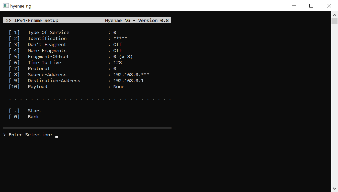 hyenae-ng: advanced cross-platform network packet generator