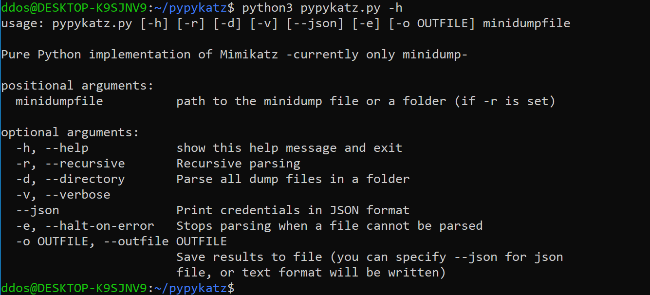 pypykatz v0.3.11 releases: Mimikatz implementation in pure Python