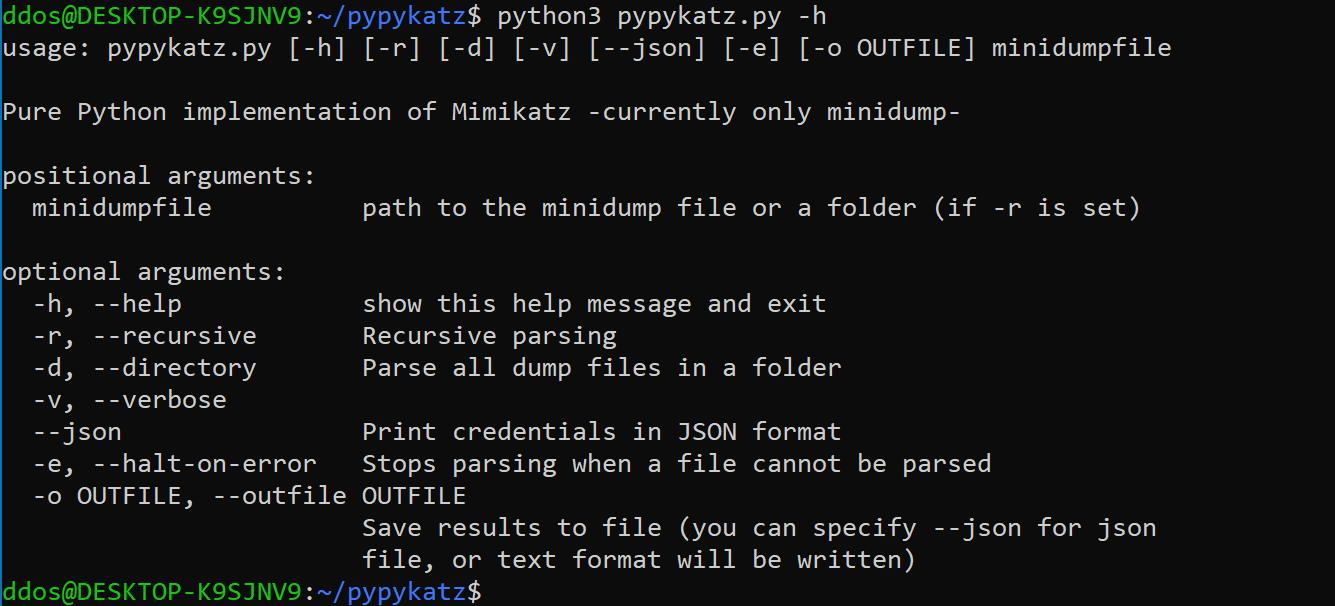 pypykatz v0.3.11 releases: Mimikatz implementation in pure Python