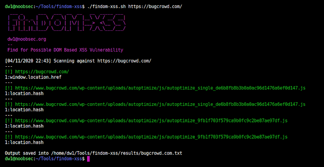 FinDOM-XSS - A Fast DOM Based XSS Vulnerability Scanner With Simplicity