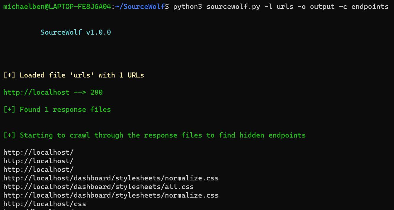 SourceWolf: Amazingly fast response crawler