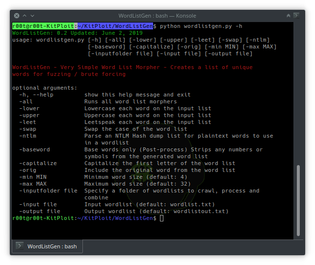 WordListGen - Super Simple Python Word List Generator For Fuzzing And Brute Forcing In Python