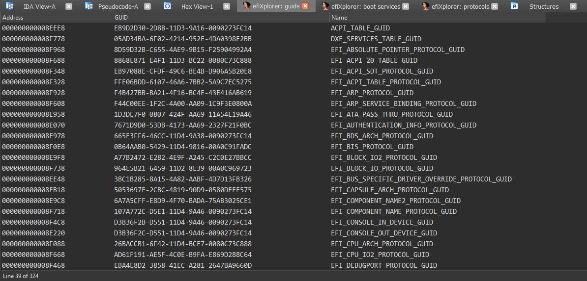 UEFI firmware analysis