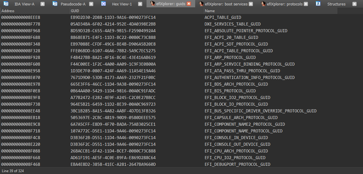 efiXplorer: IDA plugin for UEFI firmware analysis and reverse engineering automation