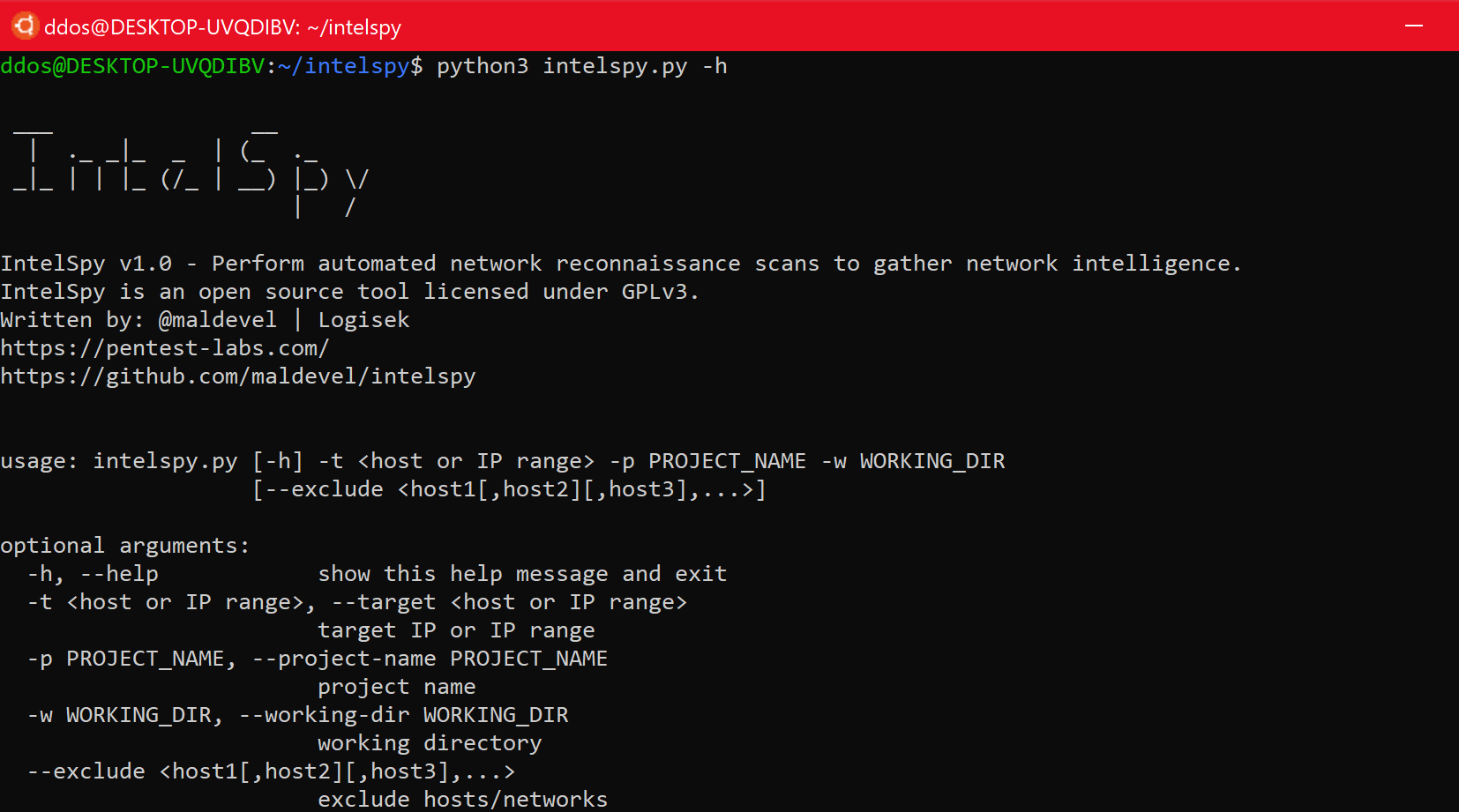 Intelspy – Perform Automated Network Reconnaissance Scans