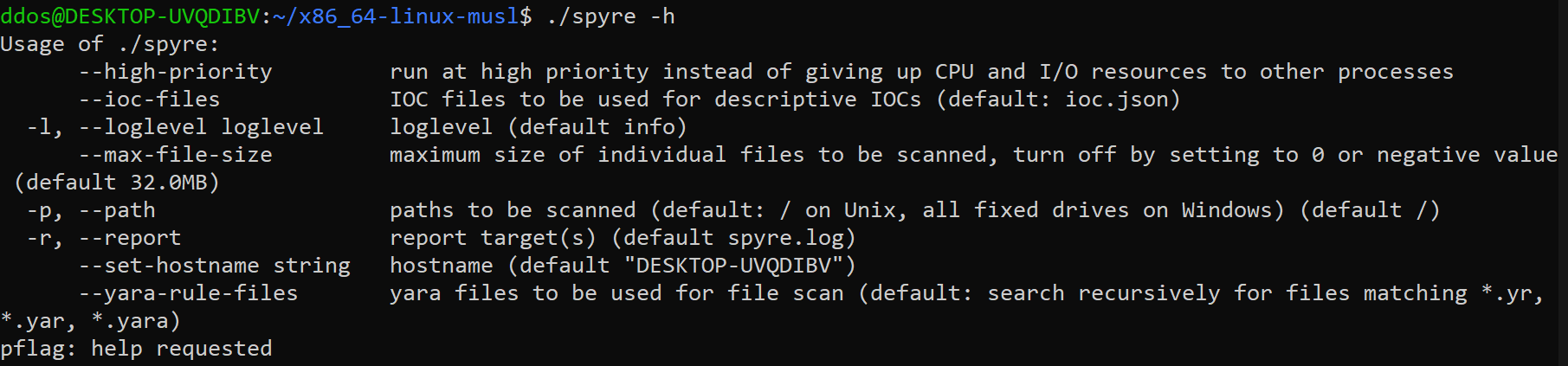 spyre: simple YARA-based IOC scanner