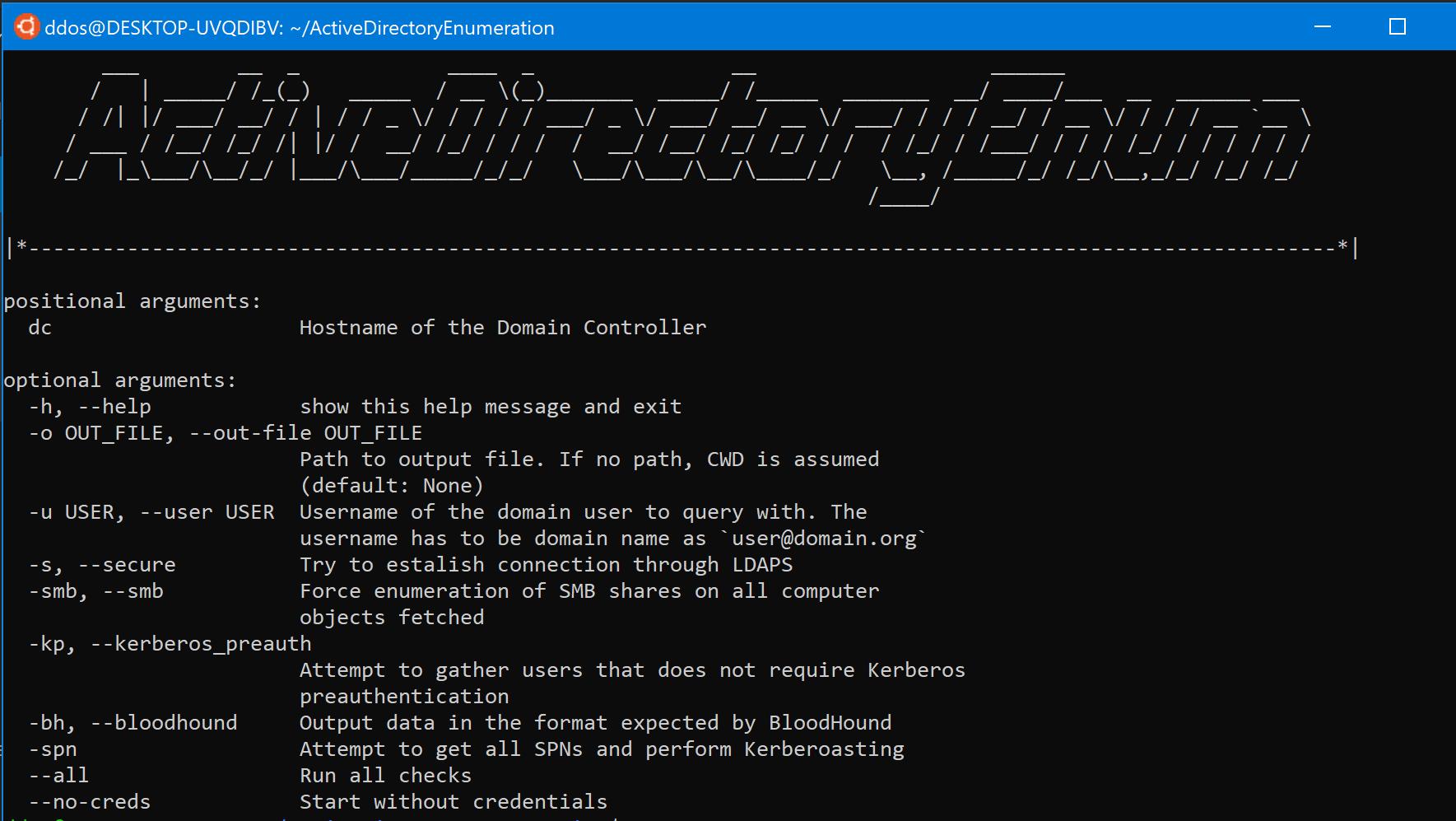 ActiveDirectoryEnumeration: Enumerate AD through LDAP