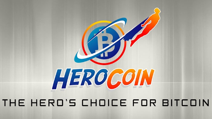 A picture of The HeroCoin logo displayed on the comapny