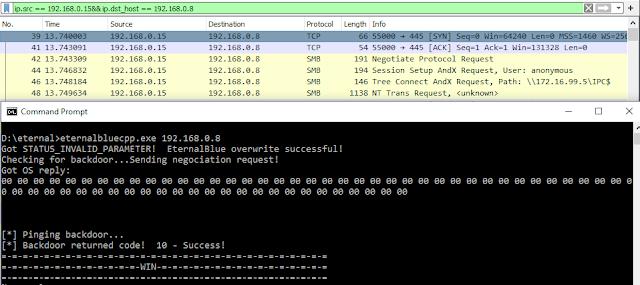 EternalBlueC – EternalBlue Suite Remade In C/C++ Which Includes: MS17-010 Exploit, EternalBlue Vulnerability Detector, DoublePulsar Detector And DoublePulsar Shellcode & DLL Uploader