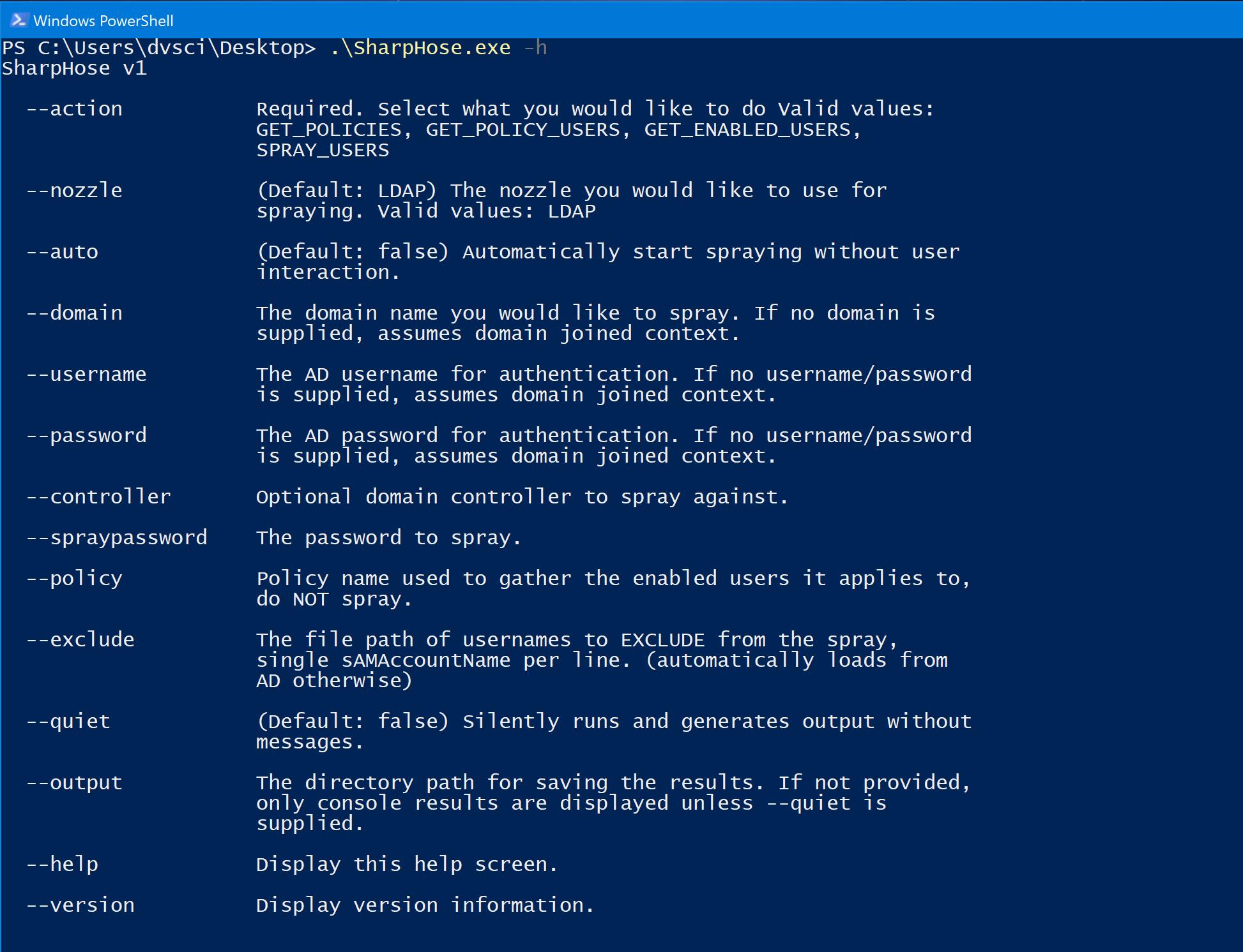 SharpHose: Asynchronous Password Spraying Tool in C#