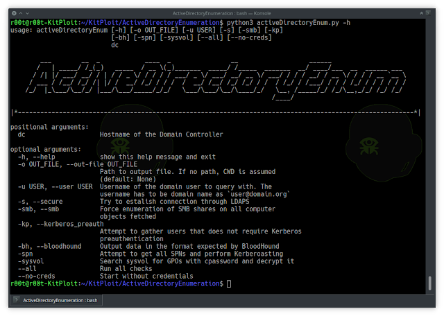 ActiveDirectoryEnumeration – Enumerate AD Through LDAP With A Collection Of Helpfull Scripts Being Bundled