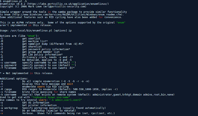 Enum4Linux - A Linux Alternative To Enum.Exe For Enumerating Data From Windows And Samba Hosts