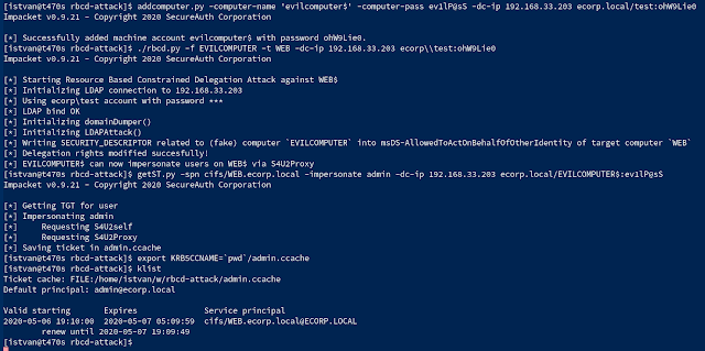 Rbcd-Attack – Kerberos Resource-Based Constrained Delegation Attack From Outside Using Impacket