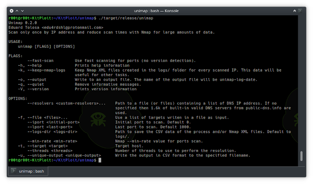 Unimap - Scan Only Once By IP Address And Reduce Scan Times With Nmap For Large Amounts Of Data