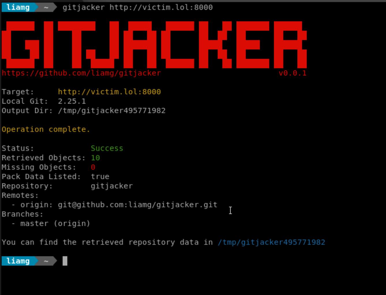 gitjacker: Leak git repositories from misconfigured websites