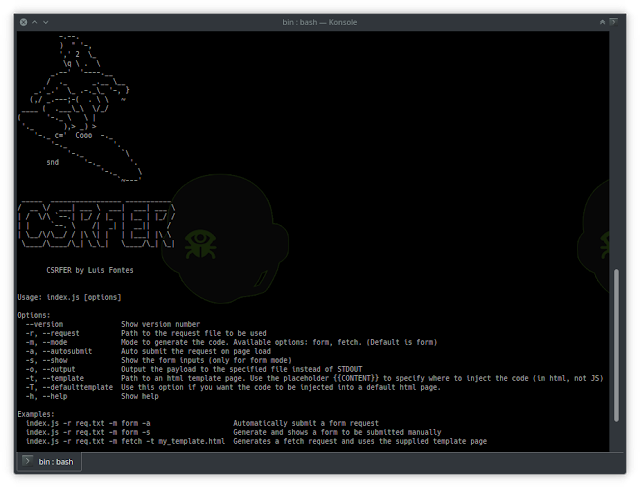 CSRFER - Tool To Generate CSRF Payloads Based On Vulnerable Requests