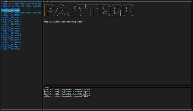 Pastego – Scrape/Parse Pastebin Using GO And Expression Grammar (PEG)