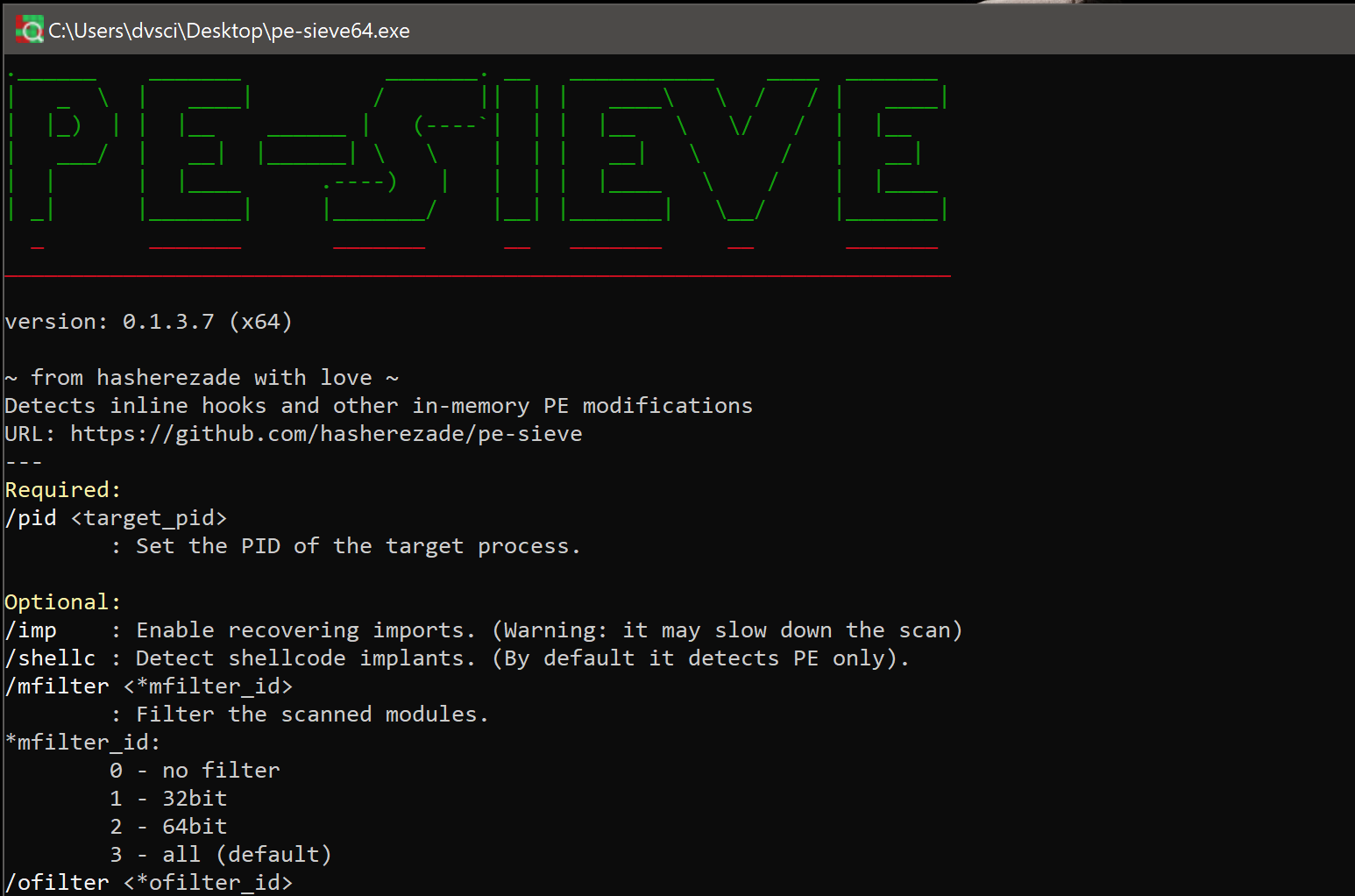 pe-sieve v0.2.9 released: searching for the modules containing in-memory code modifications