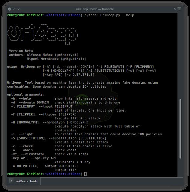 uriDeep - Unicode Encoding Attacks With Machine Learning