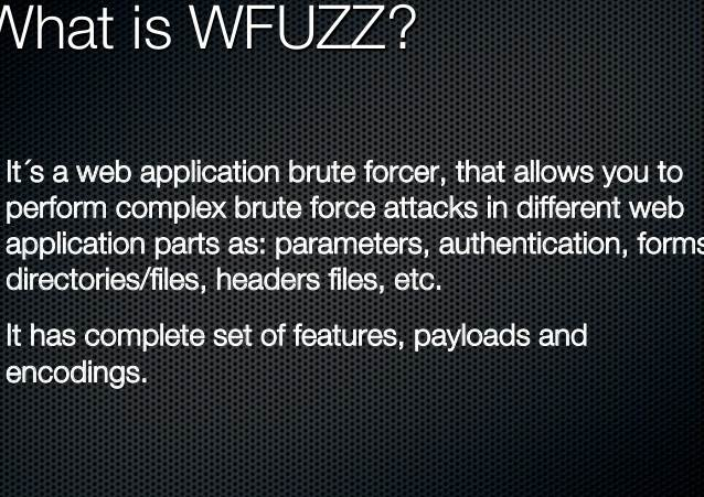 wfuzz v3.0.3 released: Web application fuzzer