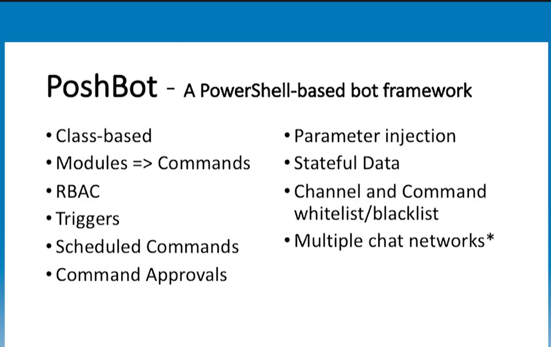 PoshBot: Powershell-based bot framework
