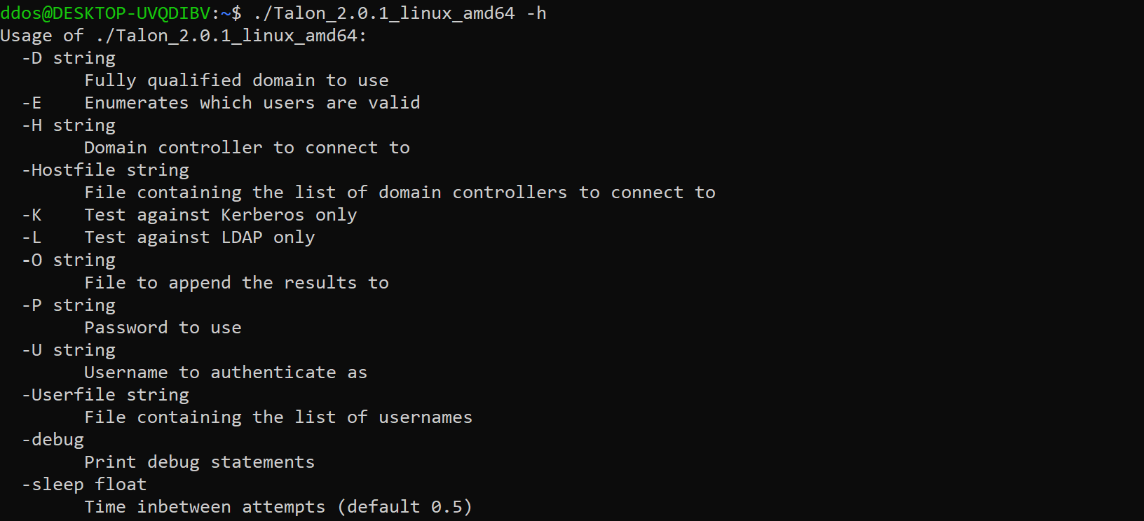 Talon: perform a password guessing attack against the Kerberos and LDAPS services