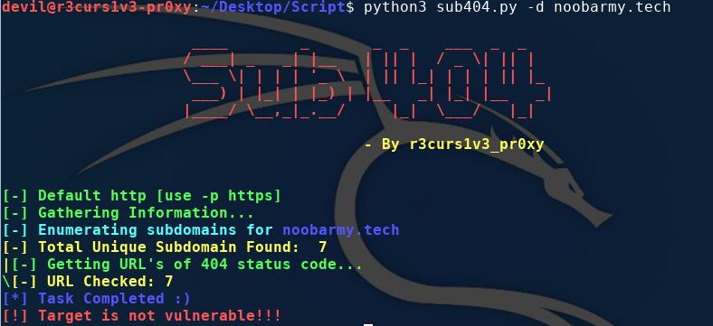 sub404: check subdomain takeover vulnerability