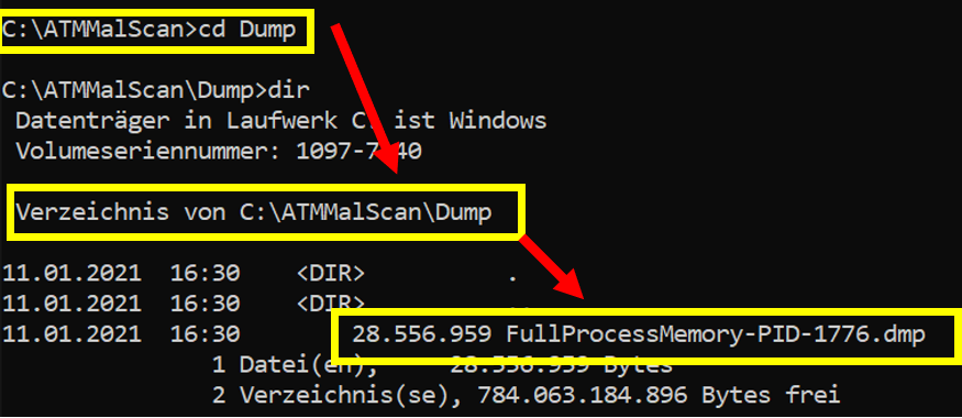 ATMMalScan: search for malware traces on an ATM