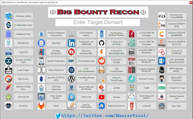 BigBountyRecon - This Tool Utilises 58 Different Techniques To Expediate The Process Of Intial Reconnaissance On The Target Organisation