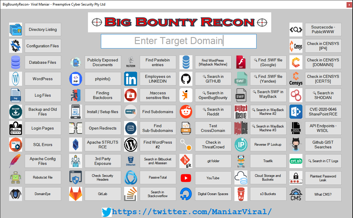BigBountyRecon: expediate the process of intial reconnaissance on the target organisation
