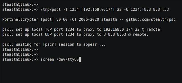 PSC – E2E Encryption For Multi-Hop Tty Sessions Or Portshells + TCP/UDP Port Forward