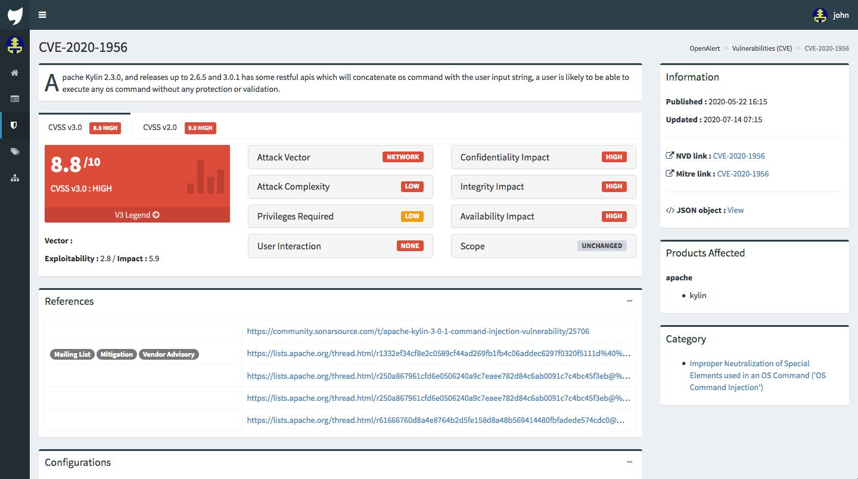 OpenCVE – CVE Alerting Platform