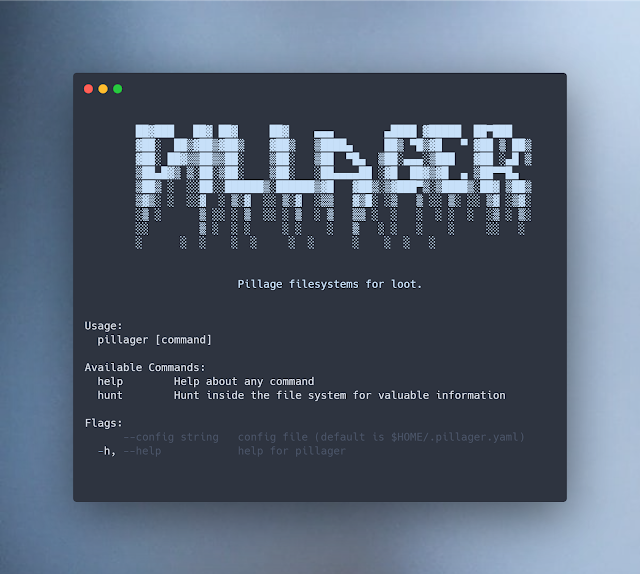 Pillager - Filesystems For Sensitive Information With Go