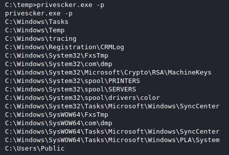 Privescker: dumping all your common Windows enum, privesc and post exploitation scripts
