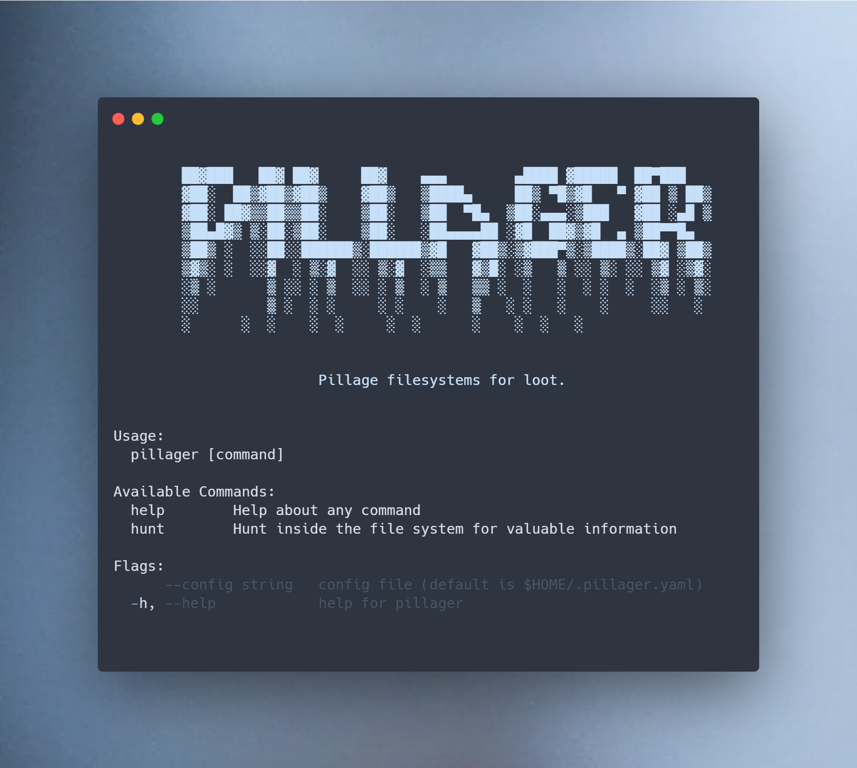 pillager v0.4.7 releases: recursively search directories for sensitive information in files