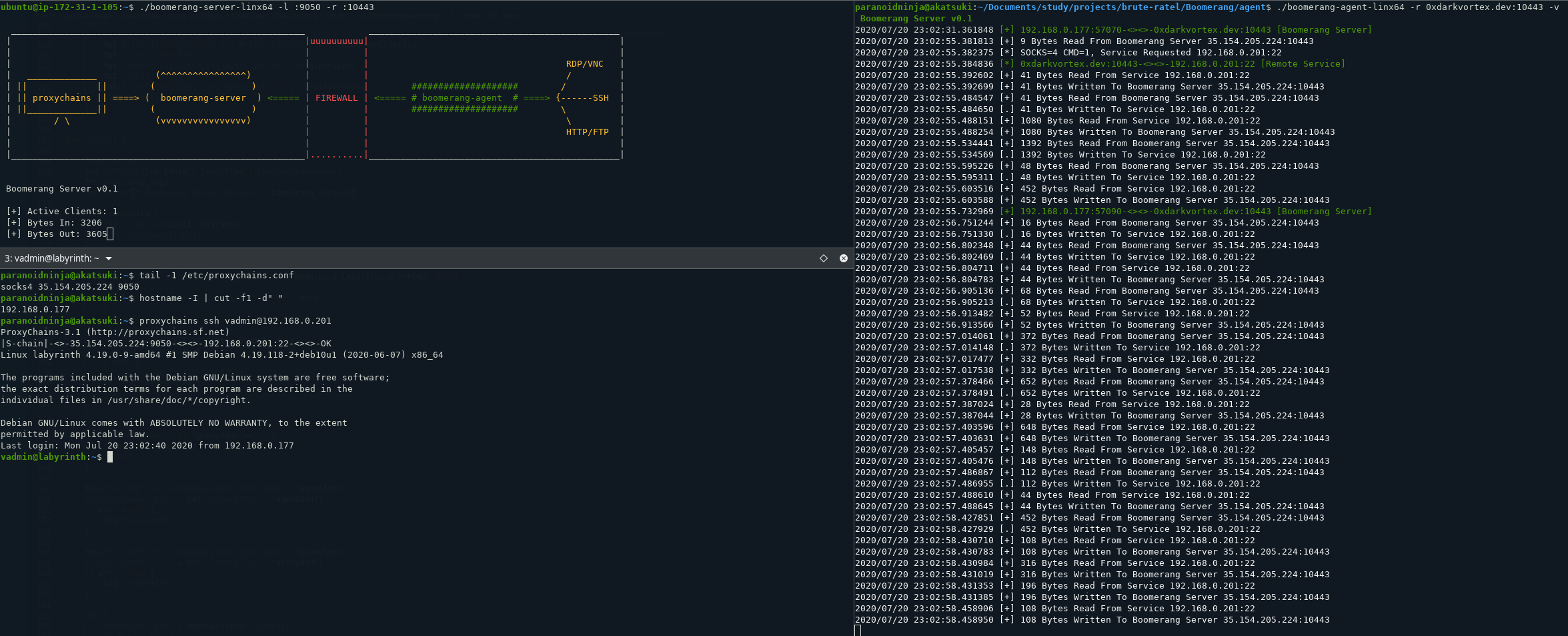 Boomerang: expose multiple internal servers to web/cloud