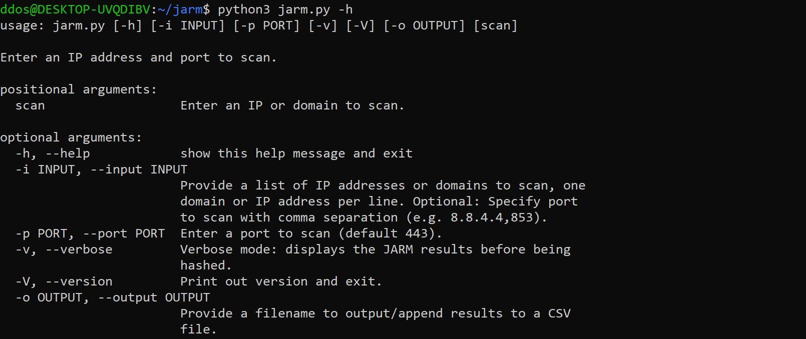 JARM: active Transport Layer Security (TLS) server fingerprinting tool