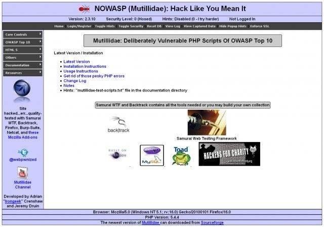 OWASP Mutillidae II