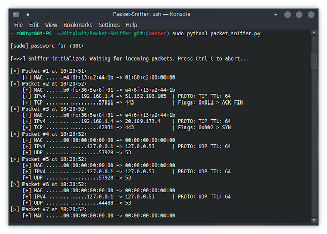 Packet-Sniffer – A pure-Python Network Packet Sniffing Tool